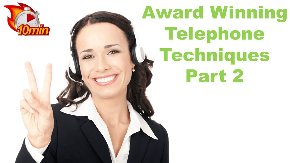 Award Winning Telephone Techniques Pt2 - Pluto LMS Video Library