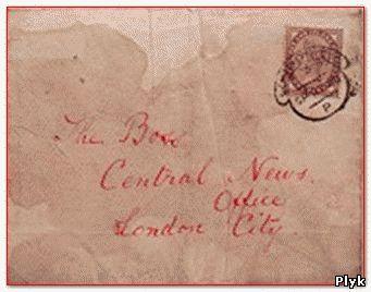 Конверт письма Потрошителя