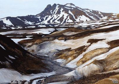 Вид Долины Смерти на Камчатке