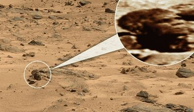 голова обезьяны на Марсе
