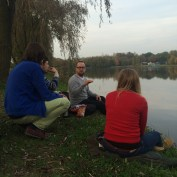 Discussion by the lake?