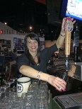 "Mayor Slavik, ""a celebrity bartender"" working hard for Plymouth Beyond the Yellow Ribbon  at the Eat Shop."