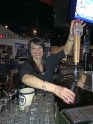 """Mayor Slavik, """"a celebrity bartender"""" working hard for Plymouth Beyond the Yellow Ribbon  at the Eat Shop."""