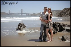Stunning Engagement Session Photos China Beach San Francisco Engagement Session Photos by Miss Ann