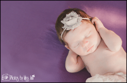 Purple Newborn Session Photos by Miss Ann Plymouth MI Photographer