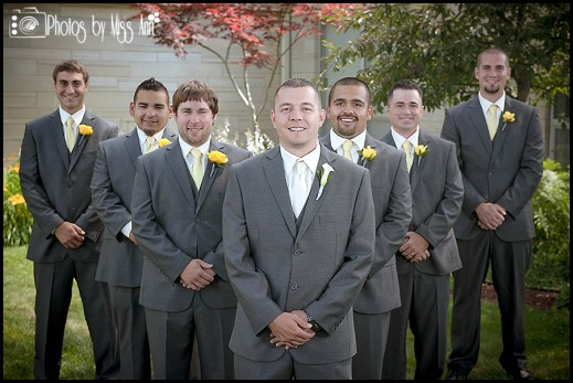 Michigan Wedding Groom and Groomsmen Portraits Photos by Miss Ann