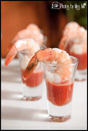 Wedding Reception Appetizers Shrimp Cocktail Infinity Yacht Wedding Photos by Miss Ann
