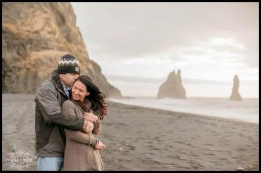 Iceland Wedding Anniversary VIK Beach Reynisfjara Beach Iceland Photos by Miss Ann