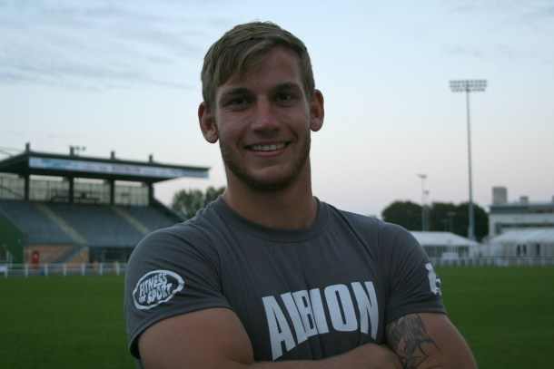 Royal Navy player Jarrad Hayler