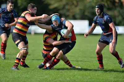 Devonport Services beating Saltash, which was their last win (picture by Mark Andrews)