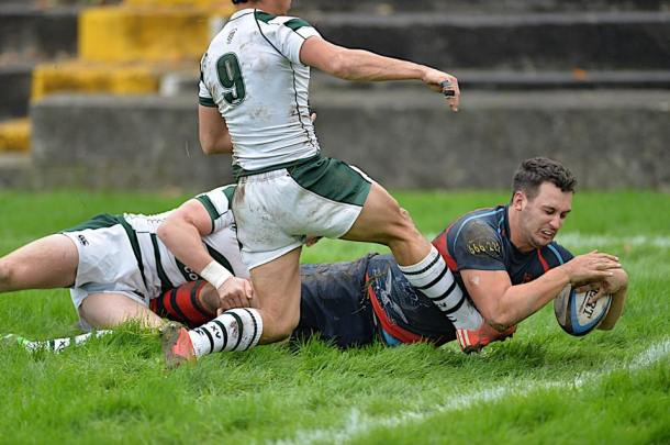 Devonport Services ended their losing run with a 18-15 win over leaders Exeter University at the Rectory (picture by Mark Andrews)