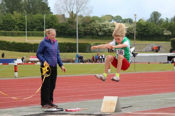 Noah Jones in the long jump