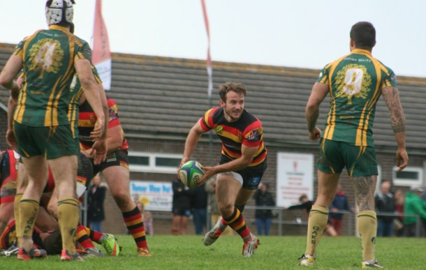 Saltash in action against Plymstock Albion Oaks on Saturday