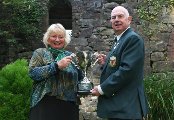 Devon president Maureen Jackson and chairman Treve Mitchell saw off the new David Butt Memorial Trophy