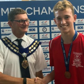 Another gold for Osrin on a successful night in the pool for Plymouth Leander