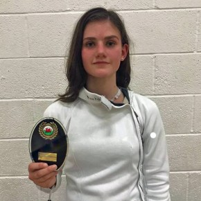 Plymouth College's Black enjoys successful start to her fencing season