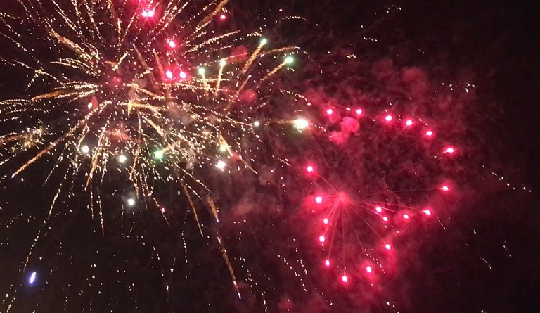novoroční ohňostroj plzeň