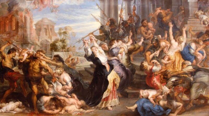 Vraždění neviňátek v Betlémě (1636–1638) – Alte Pinakothek Mnichov, Německo