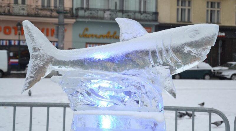 ledové sochy 2019 plzeň