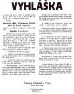 Vyhláška o zavedení provozu vpravo z roku 1939