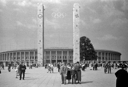 Olympijský stadion v Berlíně v roce 1936