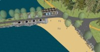 Pláž Ostende - vizualizace