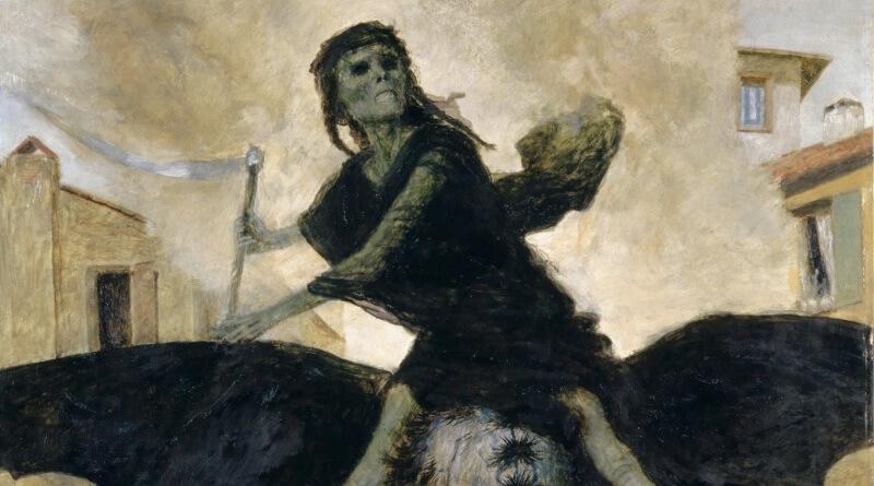 mor v představě malíře