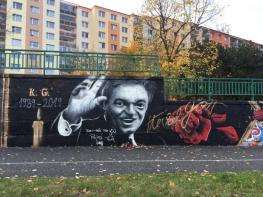 Graffiti s Karlem Gottem