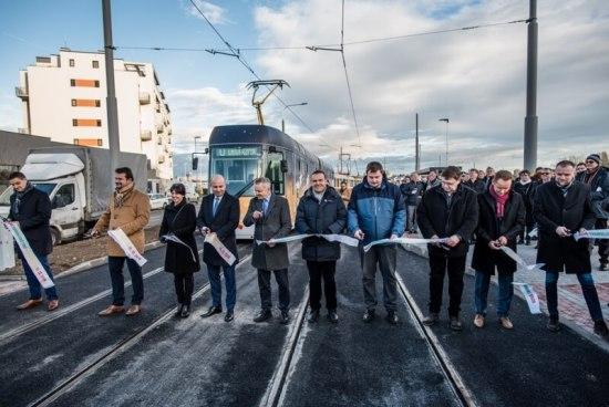 Otevření tramvajové trati