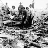 Následky hurikánu v Galvestonu
