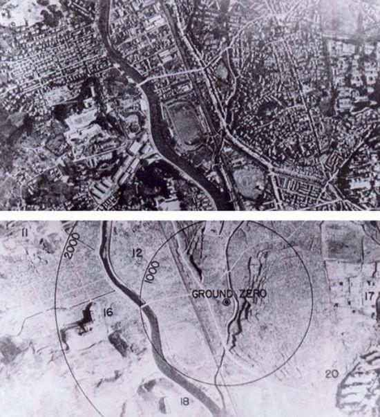 Nagasaki po výbuchu