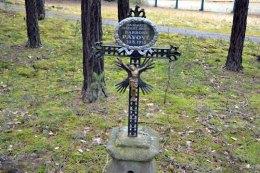 Křížek na památku zavražděné