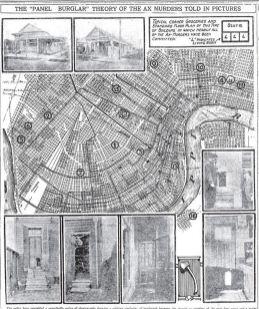 Místa vražd na mapě z března 1919