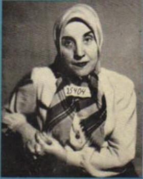 Gisella Perl na obalu své knihy