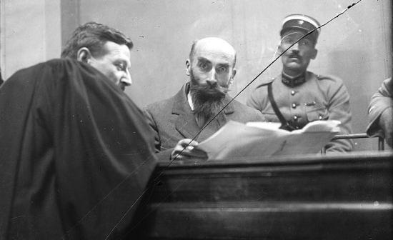 Landru během procesu vroce 1921