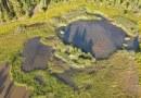 Dolní Kokotský rybník a Kokotské polesí z ptačí perspektivy