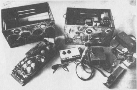 Nelegální rádio používané během odbojové činnost