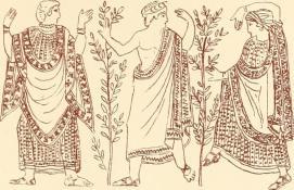 muž a žena v antice