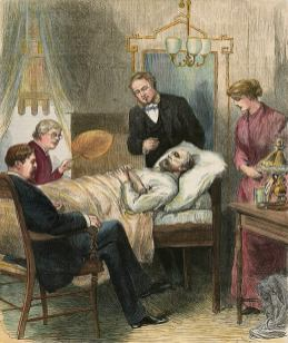Prezident Garfield na smrtelné posteli