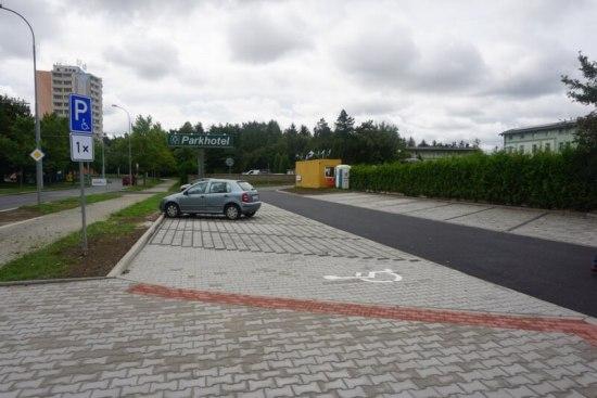 parkoviště uborského parku