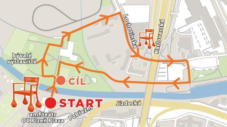 mapa procházkové trasy