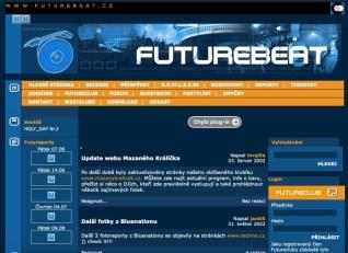 Futurebeat.cz v roce 2002. Zdroj: Archive.org