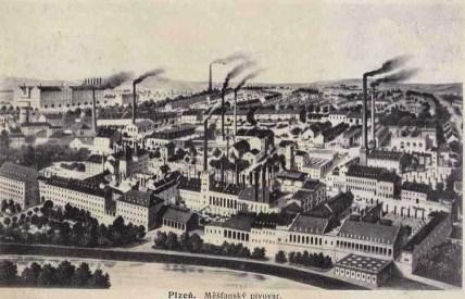 Historický pohled plzeňského pivovaru