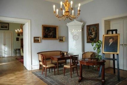 Hudební salónek na zámku v Hořovicích