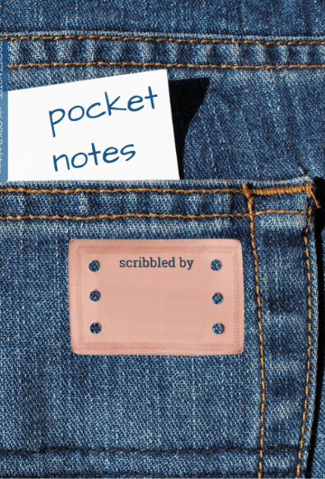 Pocket Notes pocket notebook that fits in your jeans pocket