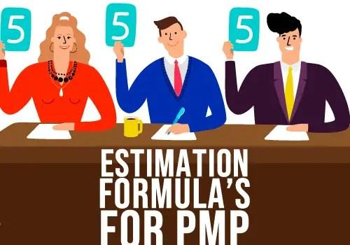 Estimation Formulas by PMP for Project Management
