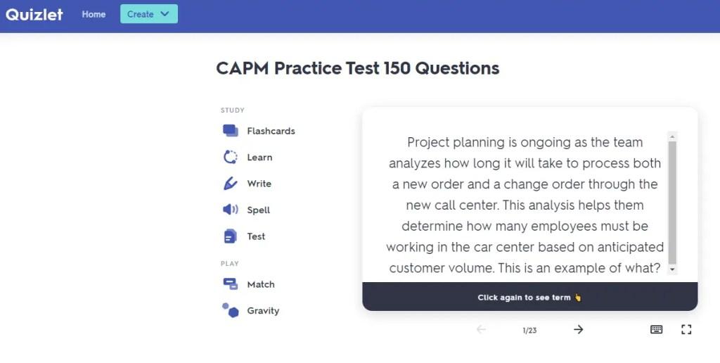 CAPM-Exam-Simulator-Quizlet
