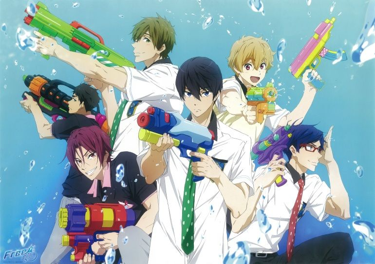 Free  Water gun fight      Anime Amino Minna plz watch it if you love free  You will not be disappointed