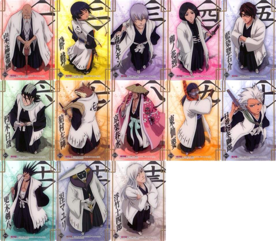 bleach gotei 13 favorite captain? | anime amino