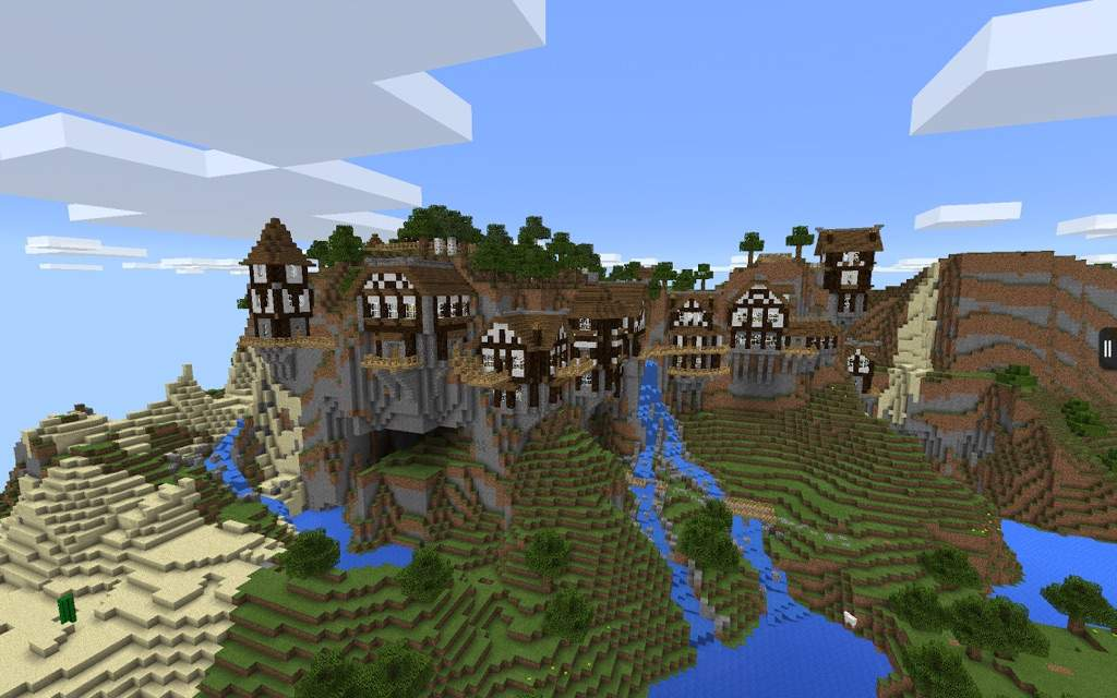 Shearwater Hills MCPE Mountain Village Map Minecraft Amino